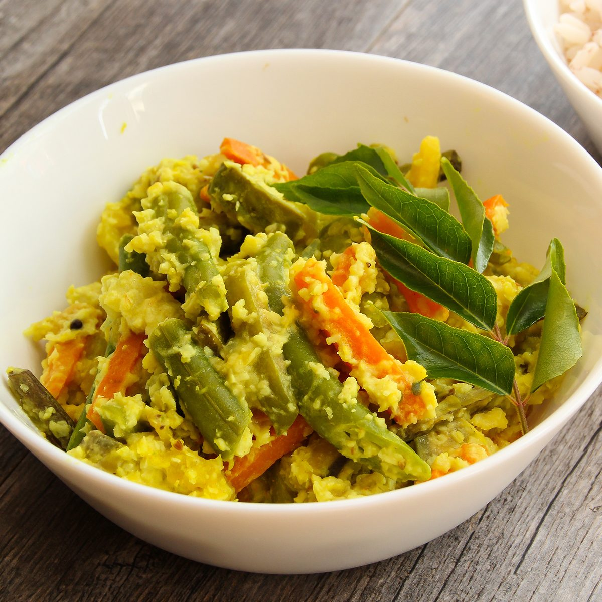 indian main dishes Avial South Indian Vegetable Side Dish