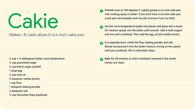 Cakie Recipe