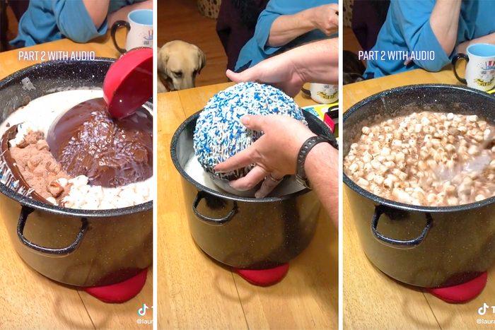 Giant hot cocoa bomb from TikTok