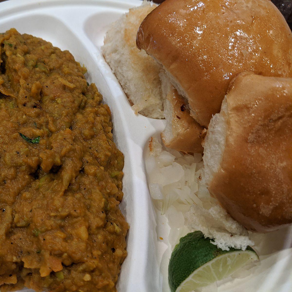 Indian Style Pav Bhaji Bread