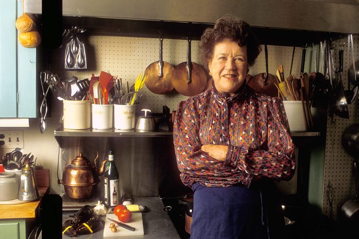 Celebrity chef Julia Child at her home in Cambridge, Massachusetts. (Photo by Rick Friedman/Corbis via Getty Images)