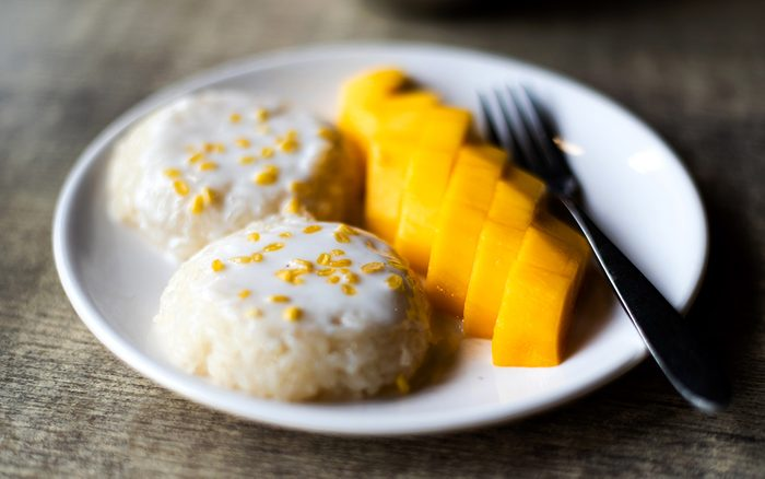 what is sticky rice Mango Sticky Rice Thai Asian Dessert