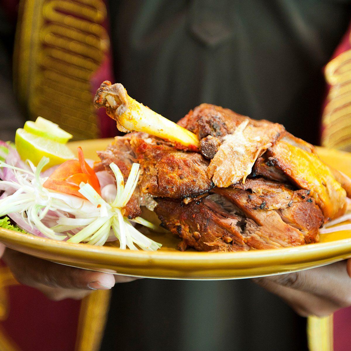 indian main dishes Raan, Slow Cooked Lamb Leg, At Bukhara, A Traditional North