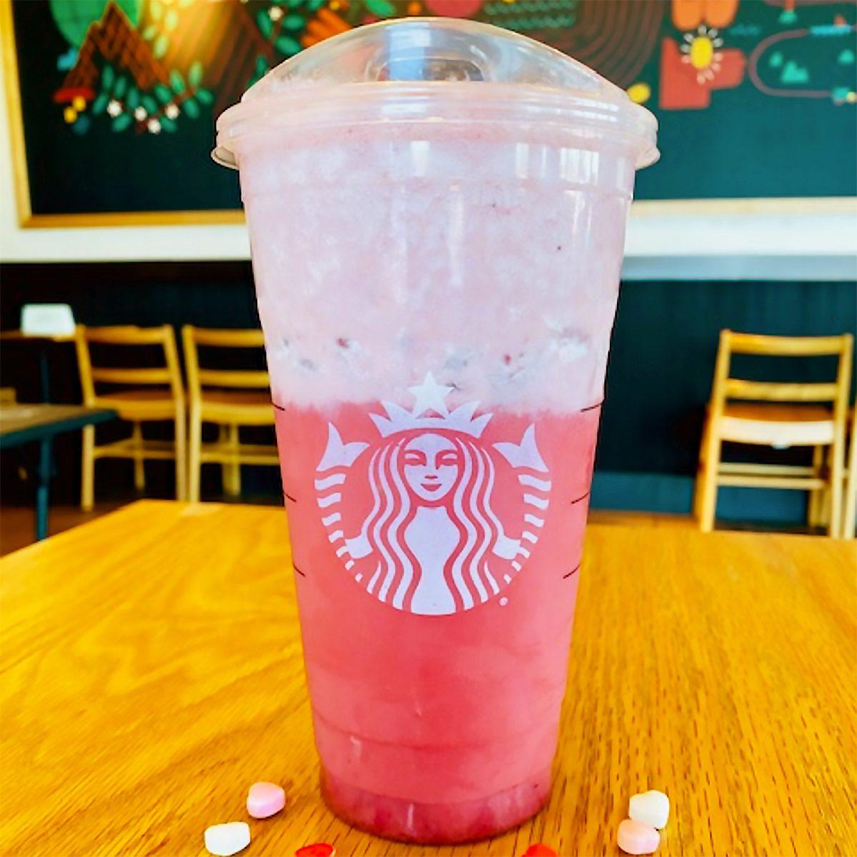 Starbucks Love On The Rocks drink from secret menu