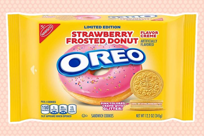 new Strawberry frosted donut oreo