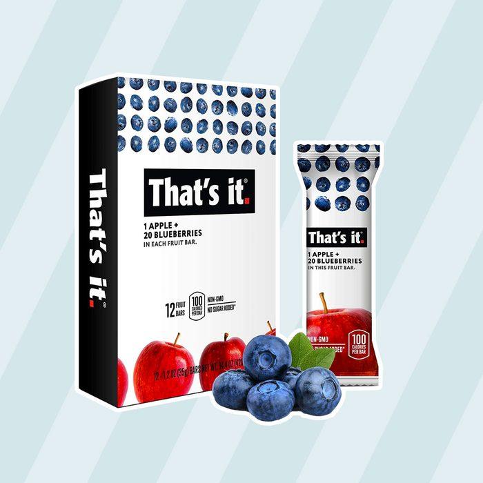 That's it. Apple + Blueberry 100% Natural Real Fruit Bar kosher snacks