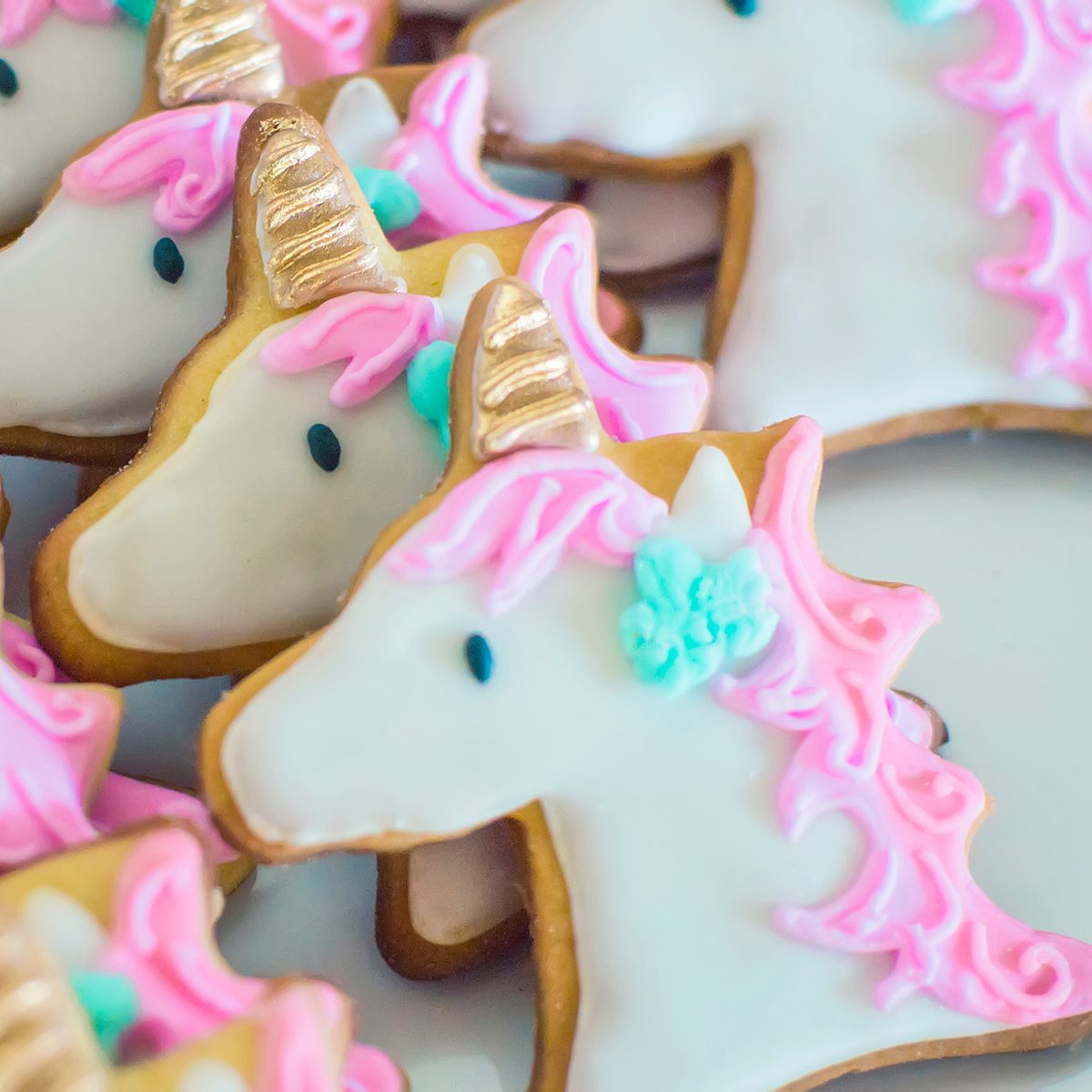 cookie decorating tips Unicorn Shaped Cookies