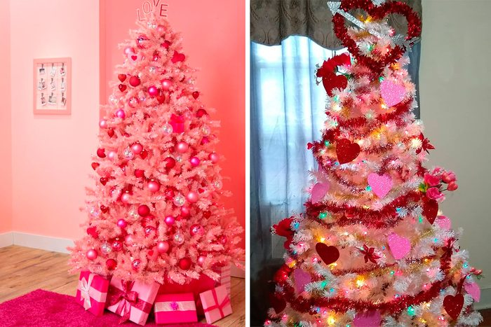 Valentines Day christmas Trees