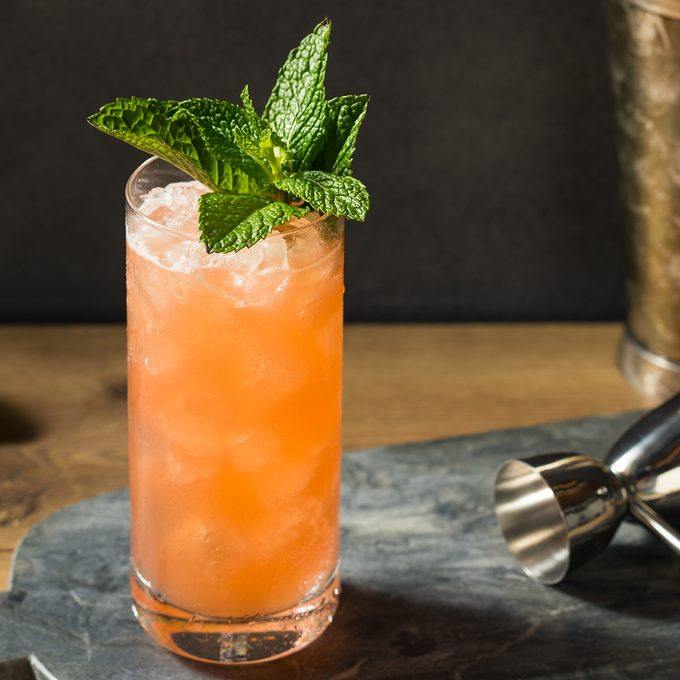 Homemade Refreshing Zombie Tiki Drink Cocktail