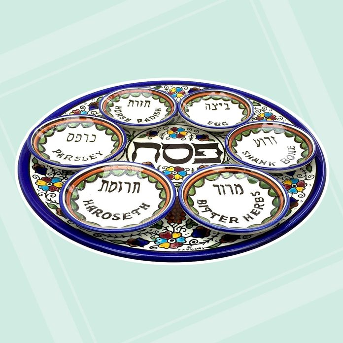 buy passover seder plate Armenian Ceramic Seder Plate