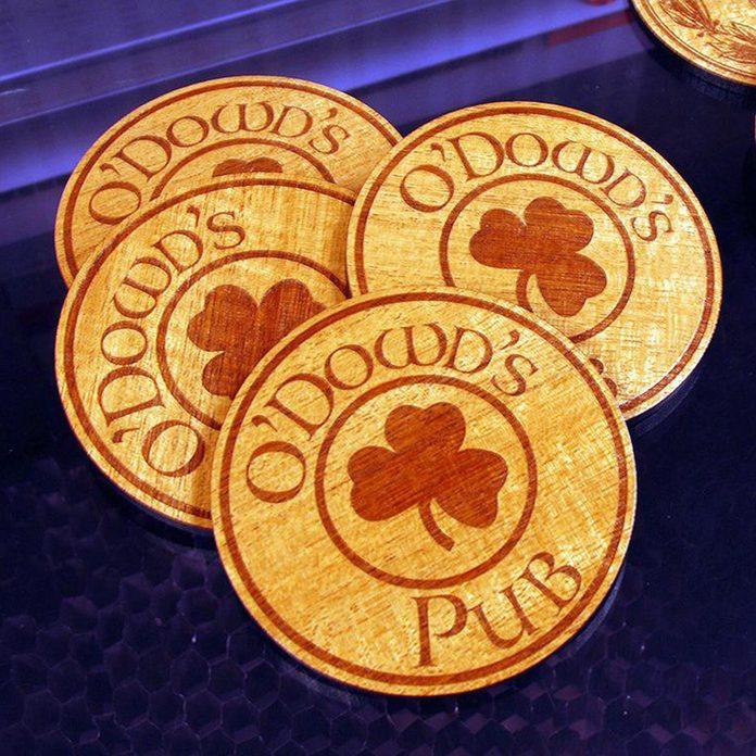 Custom Coasters Irish pub decor