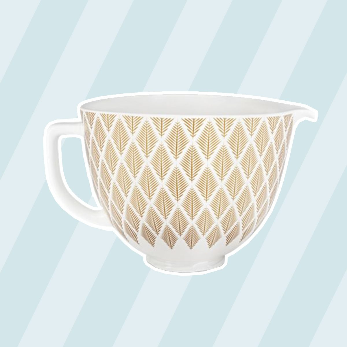 Gold Conifer Ceramic Bowl