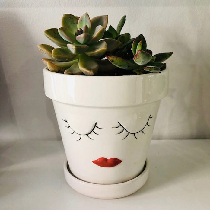 gifts for coworkers Lady Facepot Planter