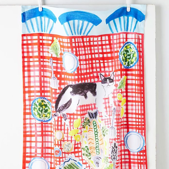Bright Limelight Studio Kitten Picnic Dish Towel