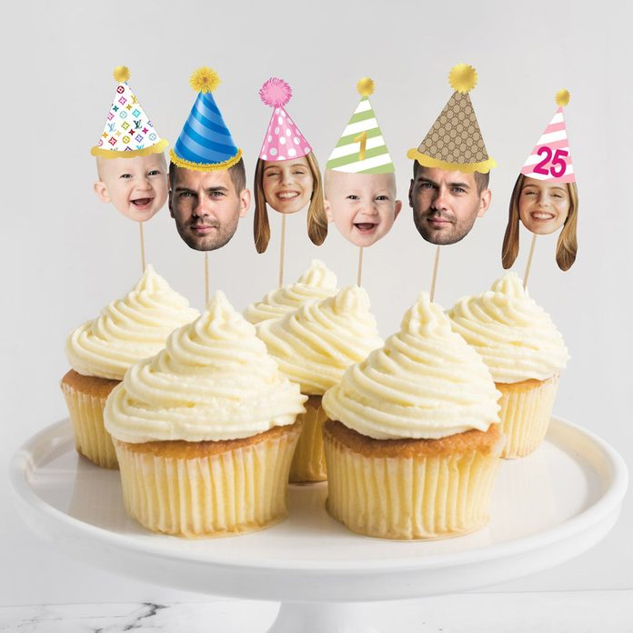 One dozen Picture cupcake toppers, Funny cupcake topper, Face cupcake topper, photo cupcake topper