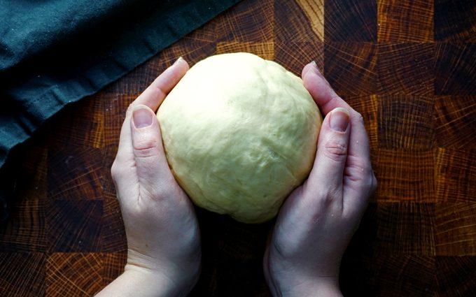 copycat olive garden breadsticks kneading olive garden breadstick dough until smooth