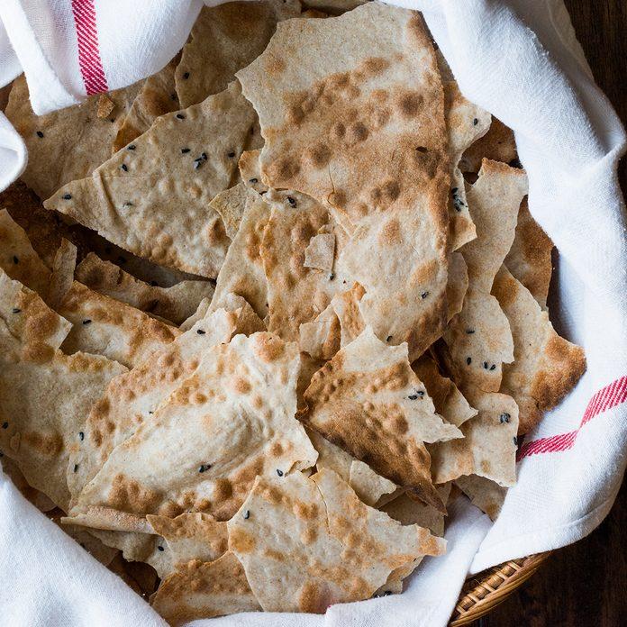 Pane Carasau Crispy Flatbread From Sardinia. (thin Bread)