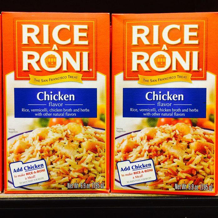 Rice a Roni, prepared food in a box, popular side dish