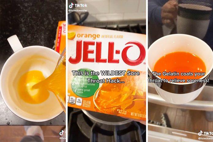 Tiktok Jello Sore Throat Remedy