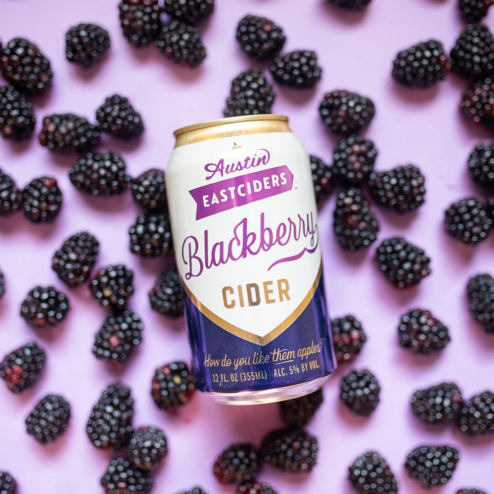 canned alcoholic drinks Austin Eastciders Blackberry Cider