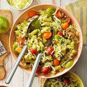 Cherry Tomato Pasta with Avocado Sauce