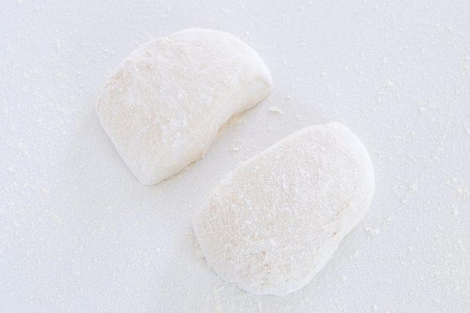 Divide Dough How to make ciabatta bread