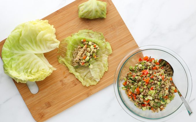 Filling Cabbage Leaves how to make vegan cabbage rolls