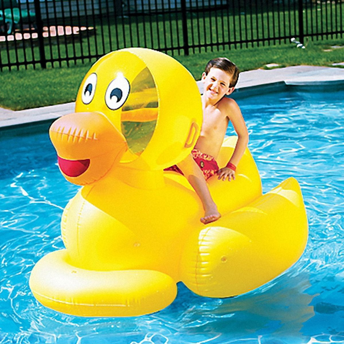Giant Ducky Ride On Pool Float