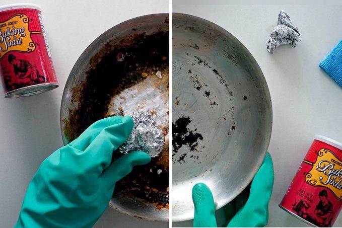 How To Clean A Burned Pan Aluminum Foil Baking Soda