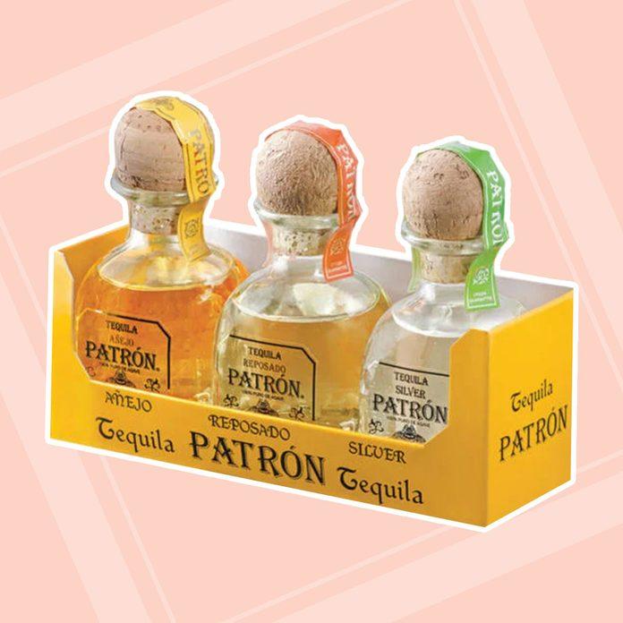 Mini Bottles Of Patron adult easter basket