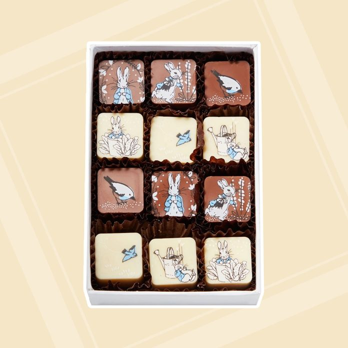 adult easter basket Peter Rabbit Painted Chocolates
