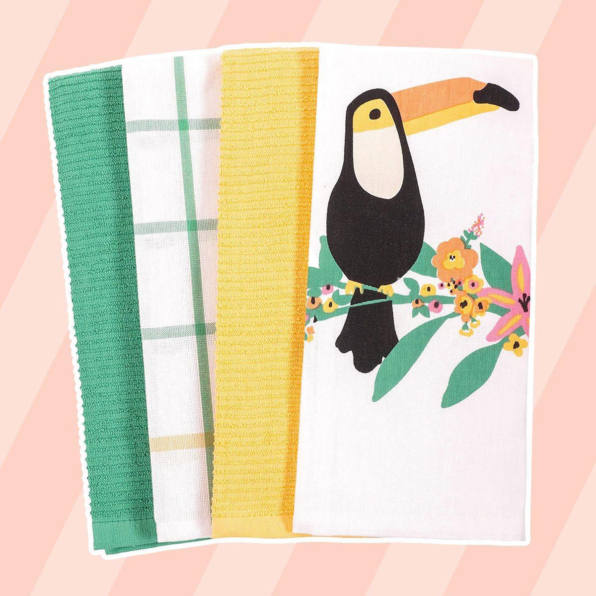 Toucan Towels tropical kitchen decor