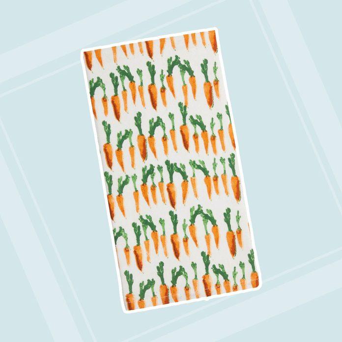 adult easter basket Watercolor Carrot Towel