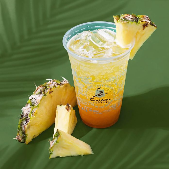 Caribou Coffee Sparkling Spicy Pineapple Juice Boust