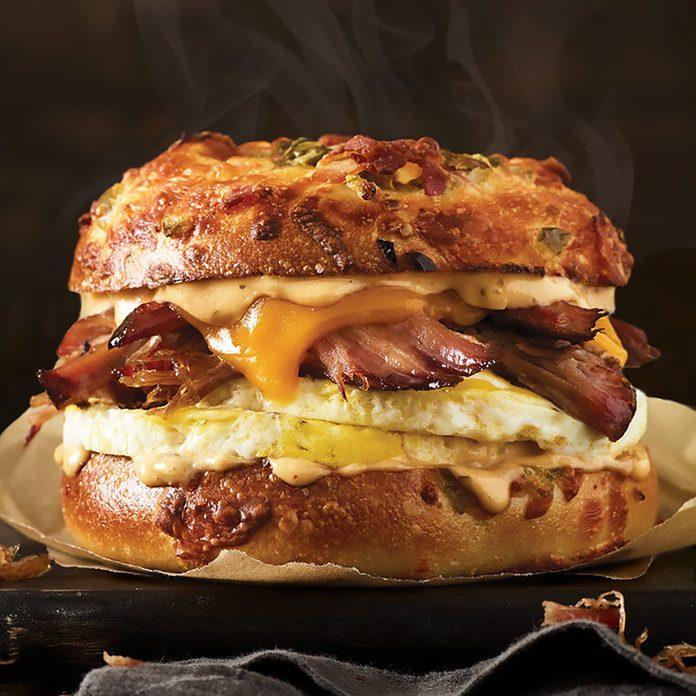 Einstein Bros Bagels Texas Brisket Egg Sandwich