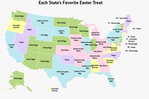 This Map Shows You the Most Popular Easter Treat in Each State