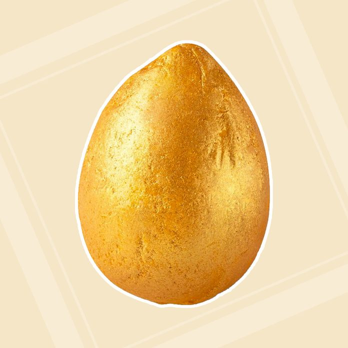 adult easter basket Golden Egg Bath Bomb Melt