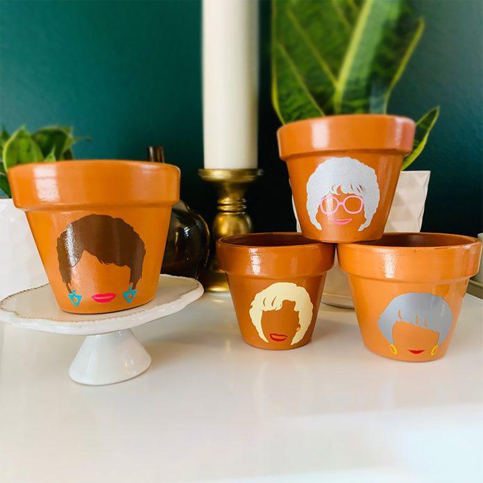 Golden Girls Planter SET *Sophia Rose Blanche Dorothy* terra-cotta cotta pots