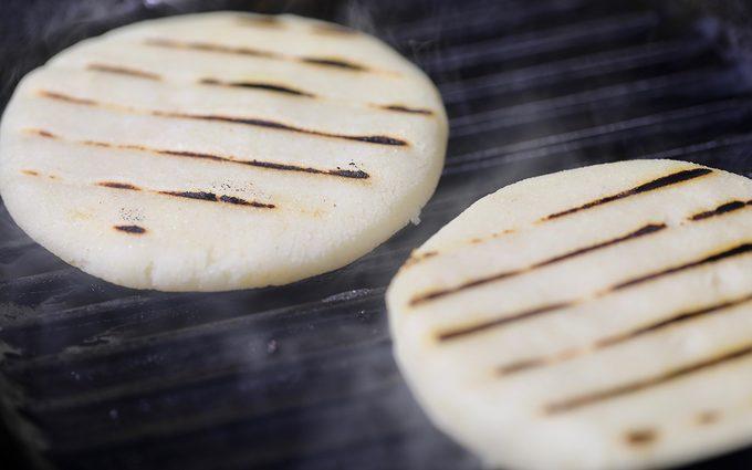 Grill Pan Arepas how to make arepas