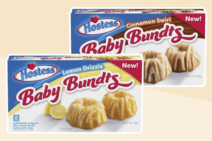 Hostess Baby Bundts Lemon Drizzle, 8ct., 10oz and Hostess Baby Bundts Cinnamon Swirl, 8ct., 10oz