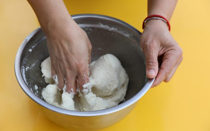 Kneading how to make arepas