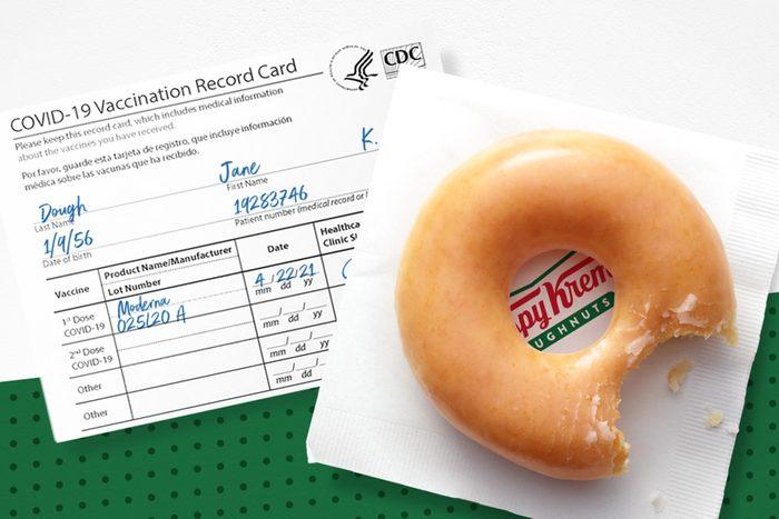 Krispy Kreme COVID-19 VACCINE OFFER
