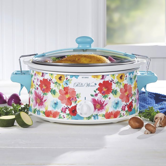 The Pioneer Woman Breezy Blossom 6 Quart Portable Slow Cooker, 33062