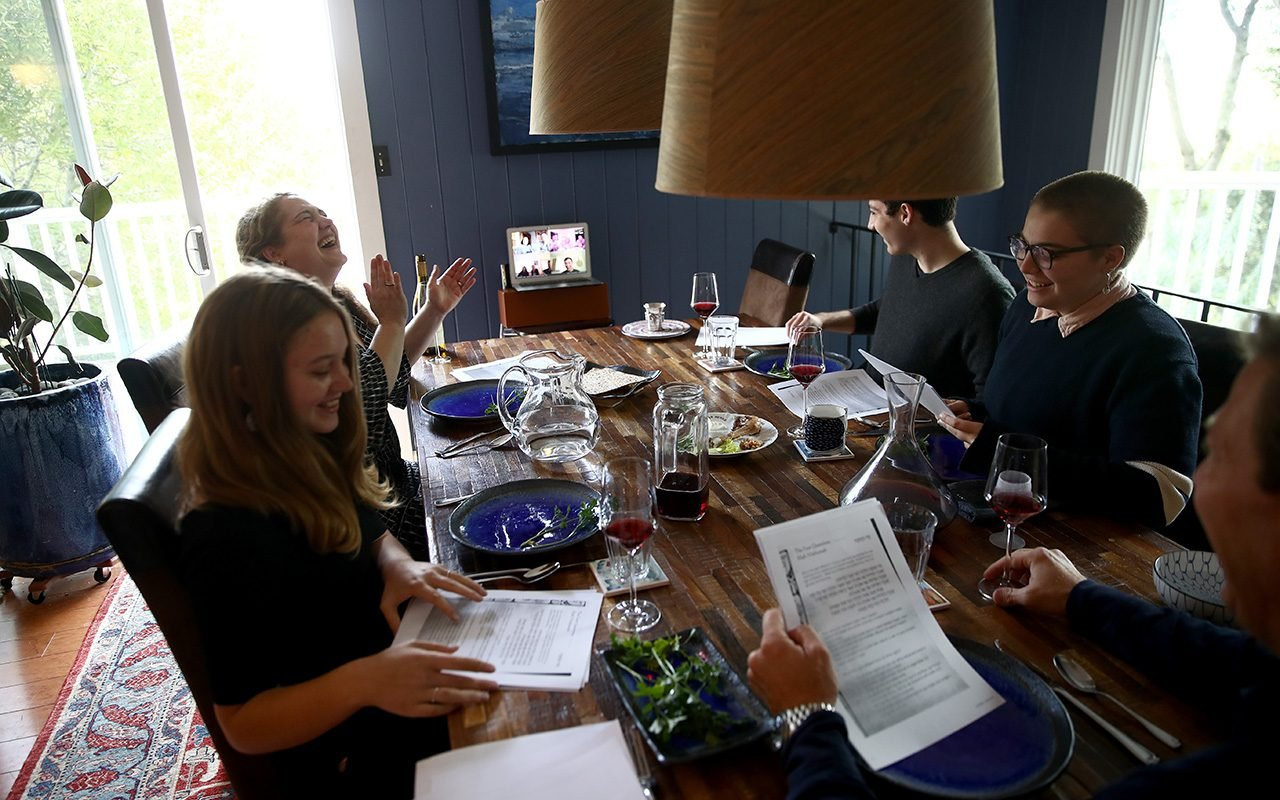 Jewish Families Celebrate Passover With Seder Over Video Conference