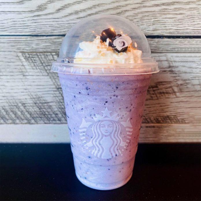 Starbucks Blueberry Muffin Frappuccino from the secret menu