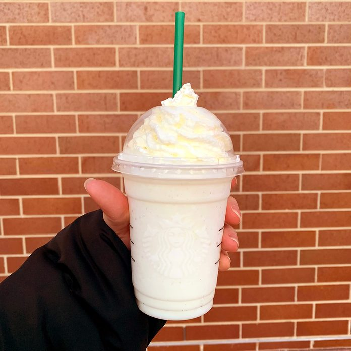Starbucks Dole Whip Frappuccino from the secret menu