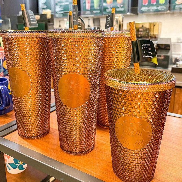 Starbucks Golden Stud Tumbler
