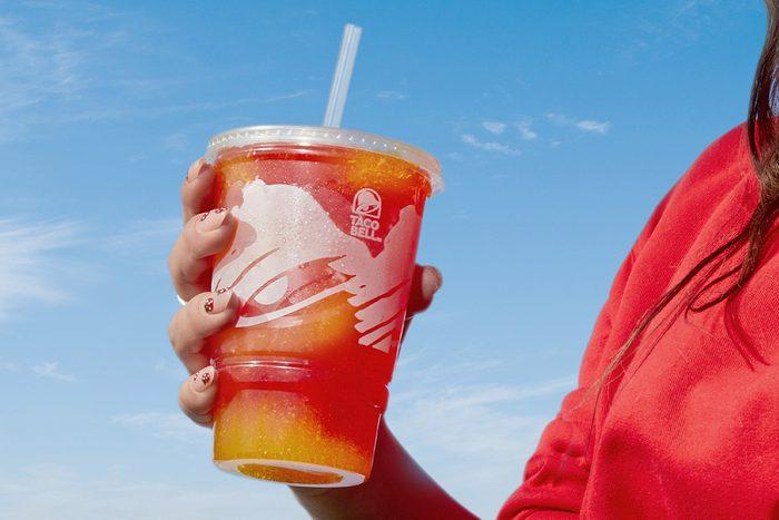 Taco Bell New Wild Strawberry Lemonade Freeze