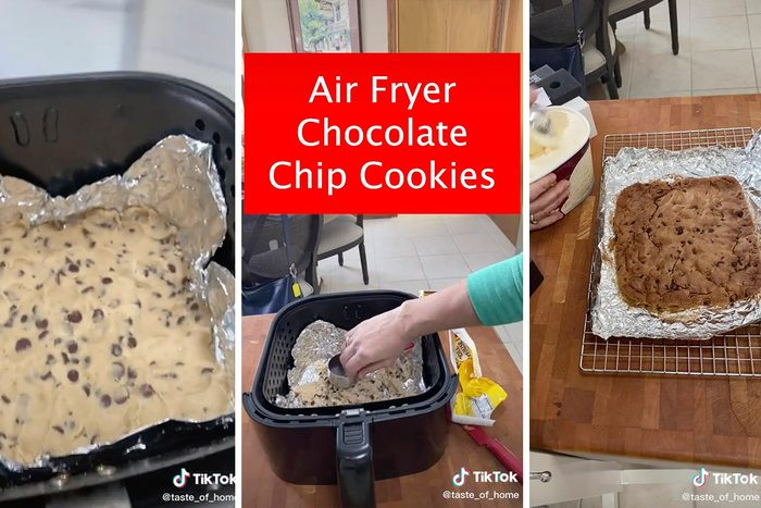 Tiktok Air Fryer Chocolate Chip Cookie
