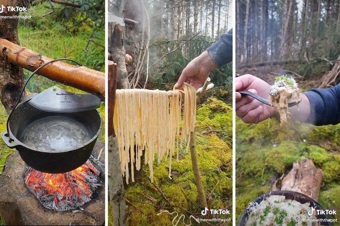 Tiktok Cooking In Nature